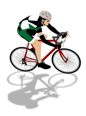 speed biker illustration