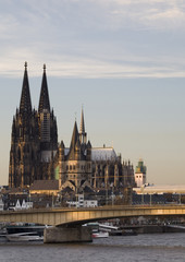 cologne cathedral from the rhine