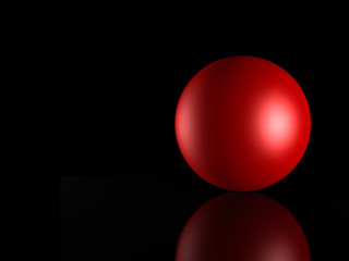 3d red_ sphere