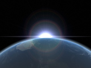 la terre : earth and sun
