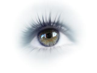 yeux bleuté