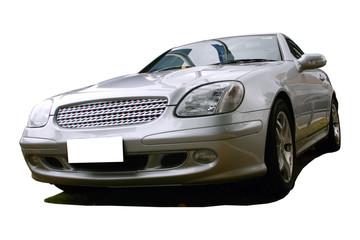 Tuinposter Snelle auto s silver sports car