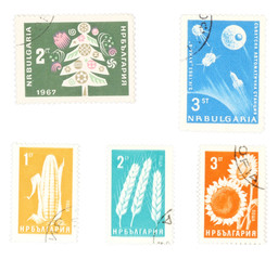 collectible postage stamps from bulgaria