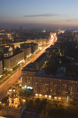 moscow, appearance against ukraina hotel, panorama moscow.