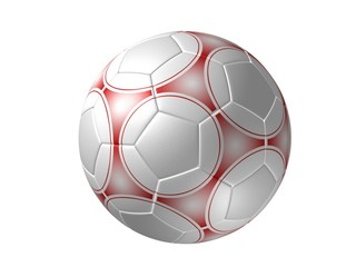 soccer ball isolated, red