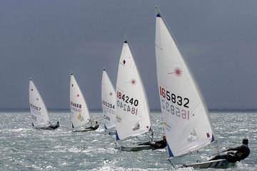 Spoed Foto op Canvas Zeilen laser sailing