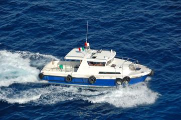 pilot boat patrolling harbor