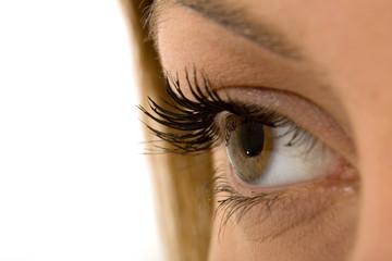 a close-up shot of an eye