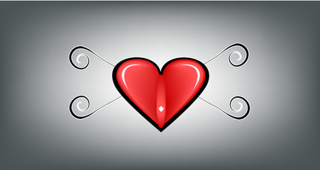 heart with tribal style