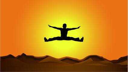 jump in sun