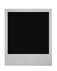 blank photo frame on pure white background
