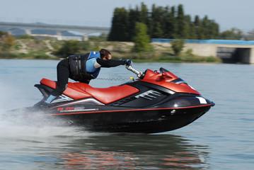 Autocollant pour porte Nautique motorise jetski