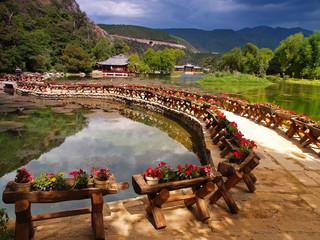 Wall Murals China a scenery park in lijiang china