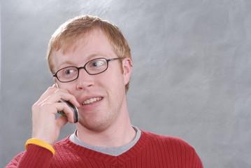 man on telephone