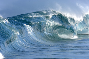 Garden Poster Water giant perfect hollow wave breaking