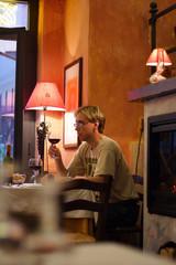 youing man in italian restaurant #4