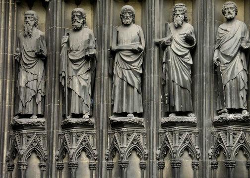 saints on church exterior
