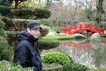 l'homme du jardin japonais
