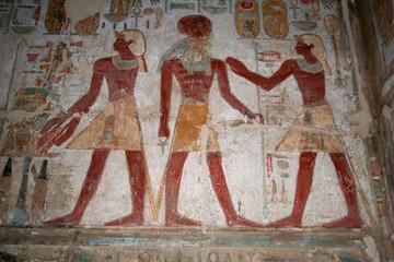 fresque - temple d'amada - lac nasser