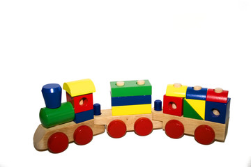 toy wood train - right