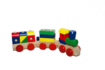 wooden toy train - left