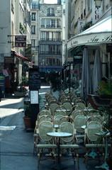 parisian street cafe