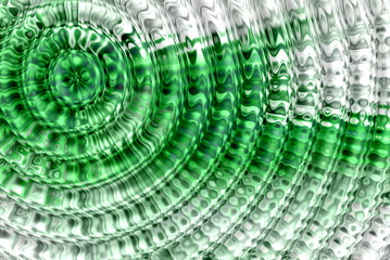 abstract hypnotic green background