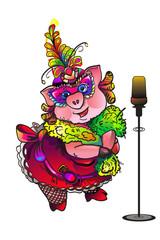 singing pig masquerade