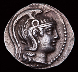 greek silver coin athens