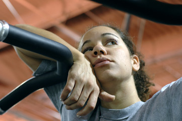 daydreaming at the gym.