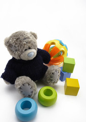 soft toy with blocks