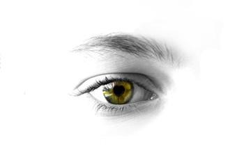 occhio con cuore