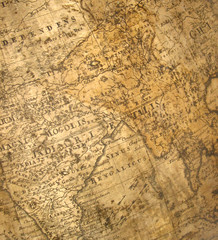 a fragment of ancient map - india