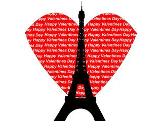 eiffel tower valentines day
