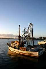 fishing boat at dock.