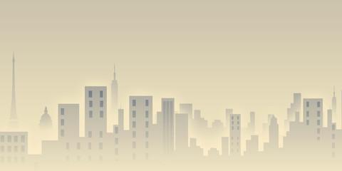 sunrise, illustration, background, city