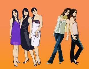 clip-art fashion model girl