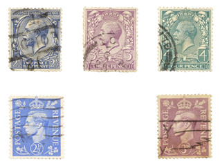 royal mail - old english post stamps