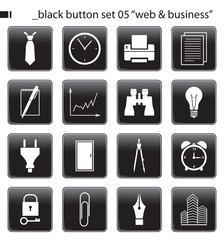 """black button set 05 """"web & business"""""""