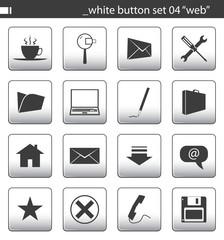 """white button set 04 """"web"""""""