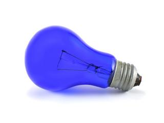 blue lightblub