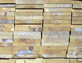 end of lumber stack