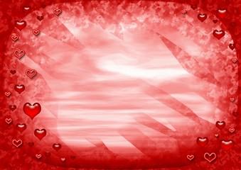 red love frame
