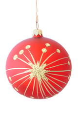 red christmas ball - isolated