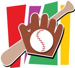 baseball,mitt and bat