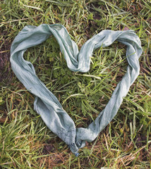 heart silk scarf