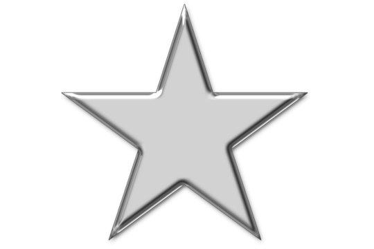 piktogramm: silberner stern