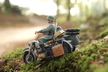 side-car allemand de la seconde guerre mondiale.
