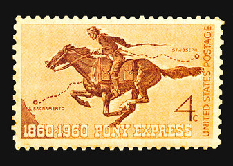 stamp - pony express