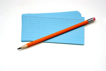 pencil and notecards